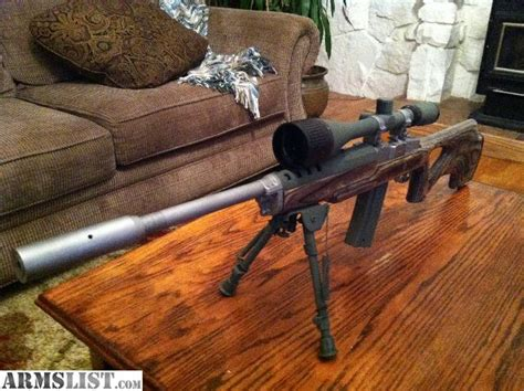 Ruger Mini 14 Target Rifle Bipod And Ruger Precision 6mm Creedmoor Rifle