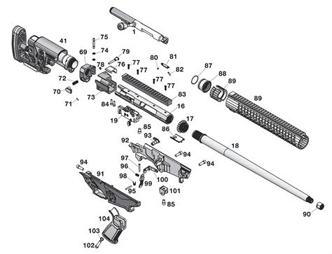 Ruger Precision Rifle Diagram