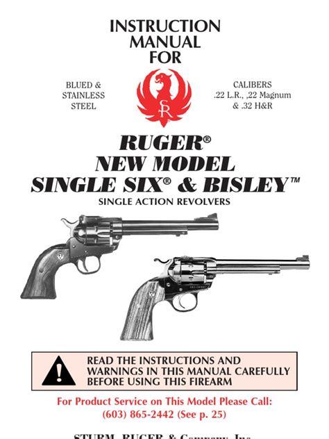Ruger Ruger Single Six Manual.