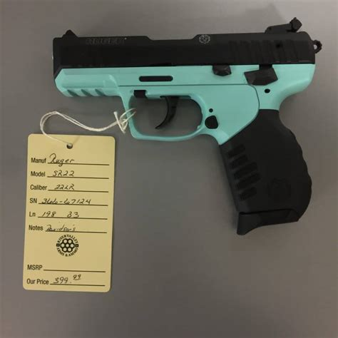 Ruger Sr22 Turquoise For Sale