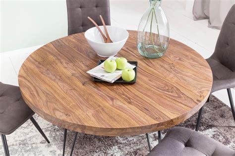 Runder Holztisch Esszimmer