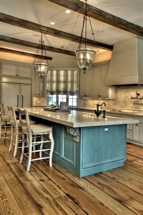 Rustic Kitchen Island Design