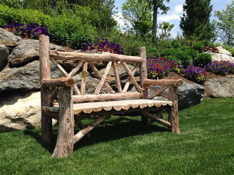 rustic wooden benches for sale.aspx Image
