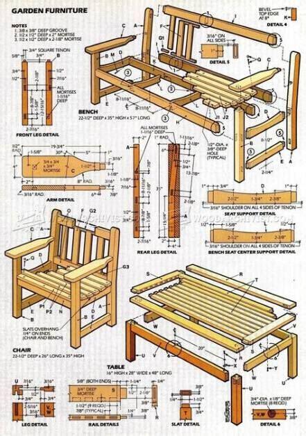 Rustic garden furniture plans Image
