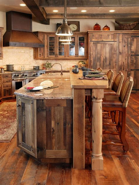 Rustic kitchen cart island Image