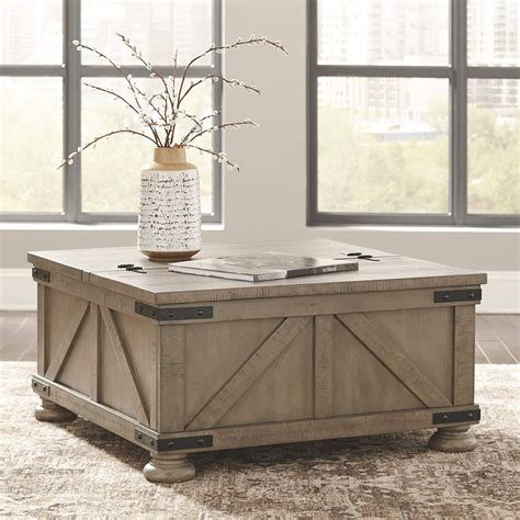 Rustic Pine Coffee Table With Storage Image