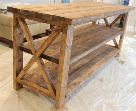 Rustic tv stand woodworking plans Image