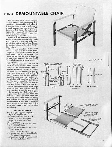 Safari chair plans Image