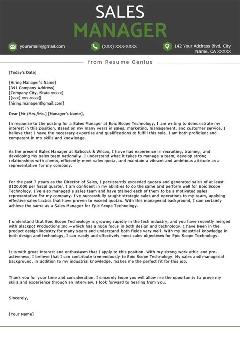Sales Executive Cover Letter Example | Resume Samples Google ...