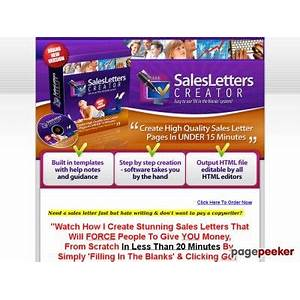 Sales letters creator create sales pages in less than 15 minutes! step by step