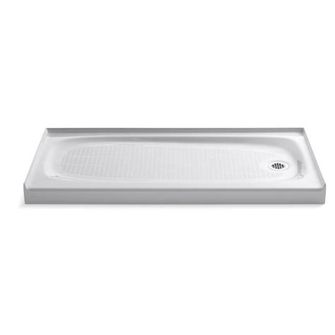 "Salient 60"" x 30"" Single Threshold Right-Hand Drain Shower Base"