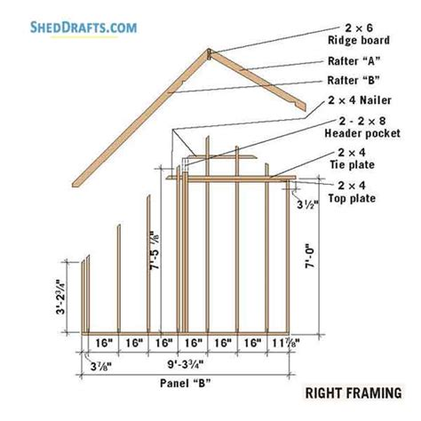 Saltbox shed plans 10x12 Image