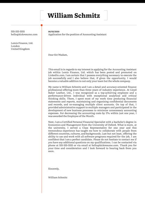 Sample Cover Letter For Resume Accounting Assistant | Audit ...