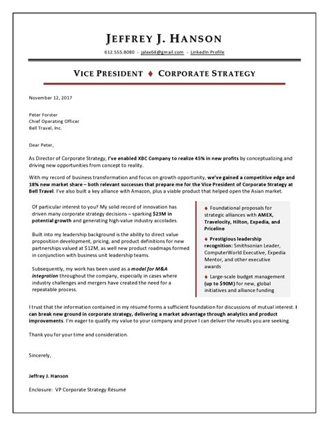 Resume Cover Letter Regional Sales Manager