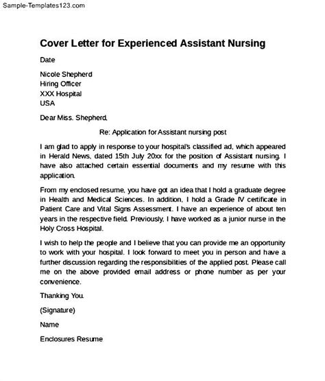 Sample Cover Letter For Cna Job   How To Write Resume For ...
