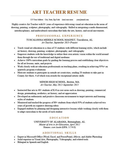 Sample Resume Of Art Craft Teacher | Sample Nursing Resume ...
