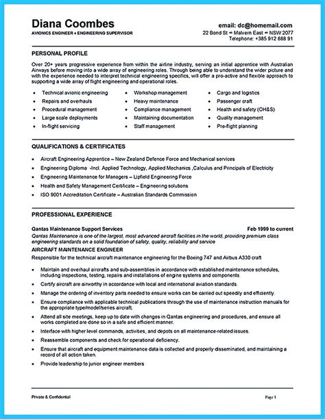 Sample Resume For Aviation Maintenance | Sample Contract Of ...