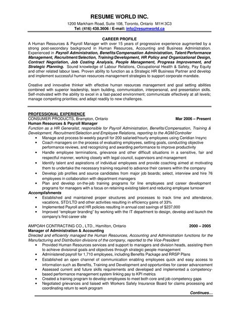 Sample Resume For Hr Benefits   Cover Letter Examples For ...