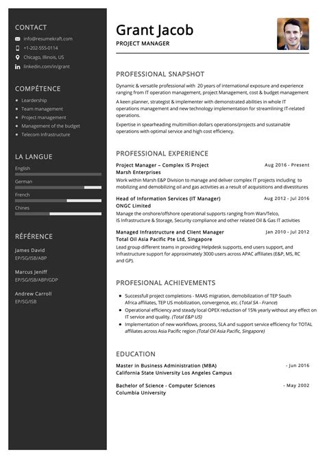 Sample Resume Utility Manager Intern Resume Template Download