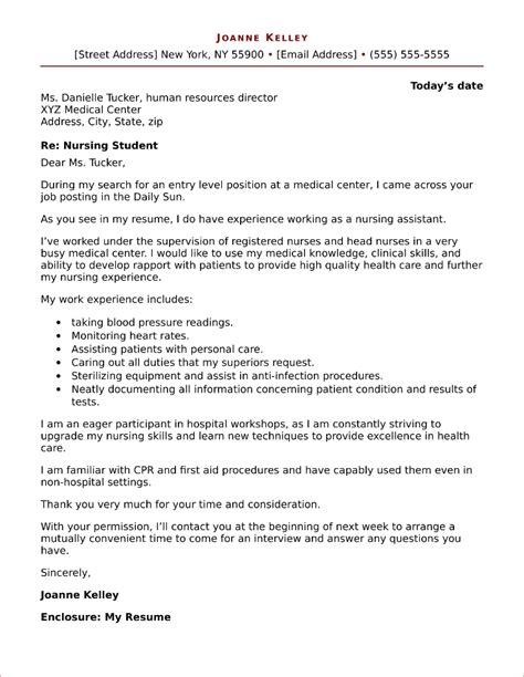 Sample Resume Cover Letter Nursing Student | Creating Resume ...