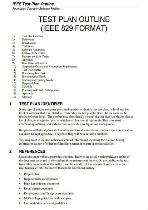 Sample Test Plan Template Doc CV Templates Download Free CV Templates [optimizareseo.online]