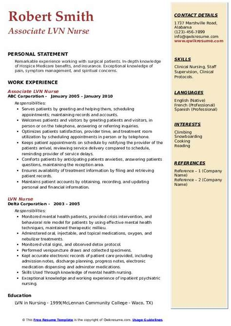 Sample Vocational Nurse Resume How To Write A Good Resume