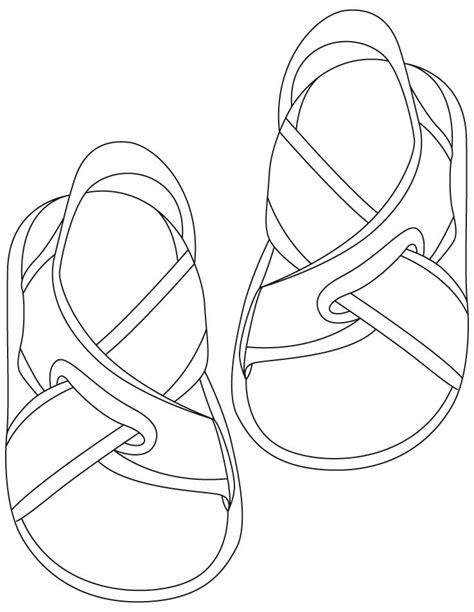Sandalen Malvorlage