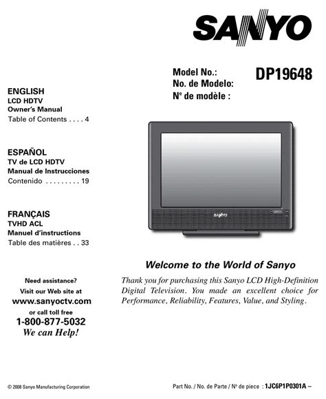 sanyo vizon tv manual pdf manual