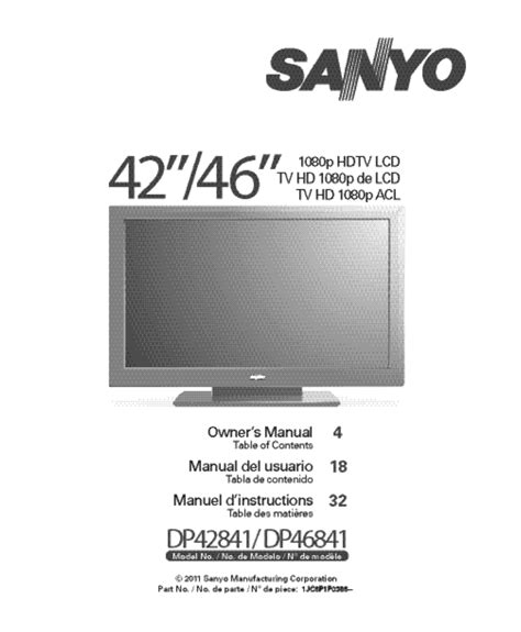 sanyo vizon tv troubleshooting pdf manual