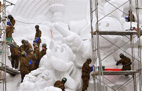 Sapporo Snow Festival Japanese Self Defense Force
