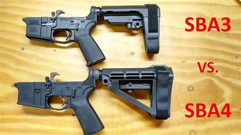 Sba3 Vs Sba4 Pistol Brace