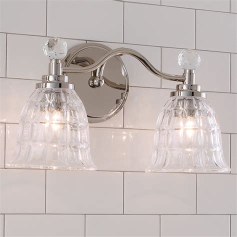 Schaefferstown 2-Light Glass Shade Vanity Light