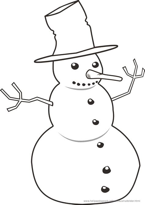 Schnee Malvorlage
