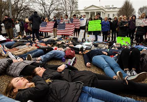 School Shooting Revolver And Shotgun