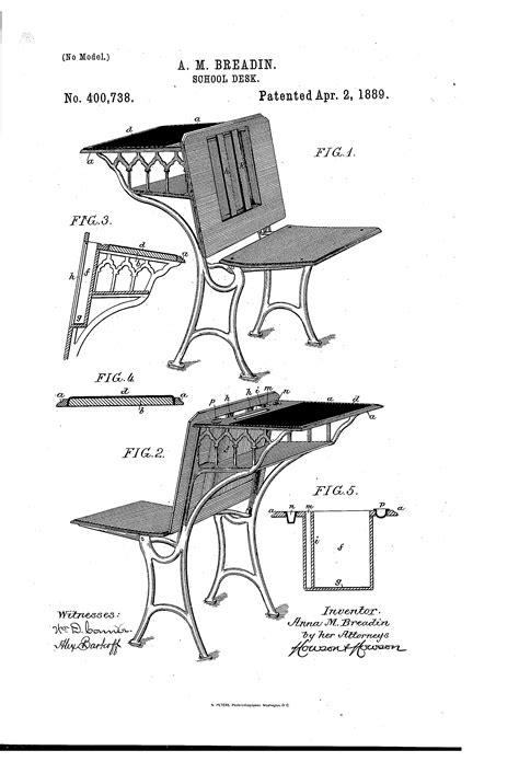 School Desk Patents Image