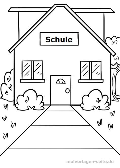 Schulgebäude Malvorlage