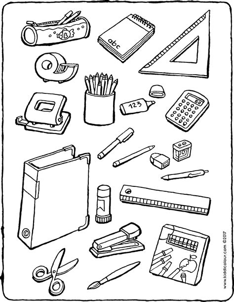 Schulsachen Malvorlagen