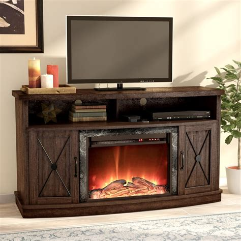 "Schuyler TV Stand for TVs up to 60"" with Electric Fireplace"
