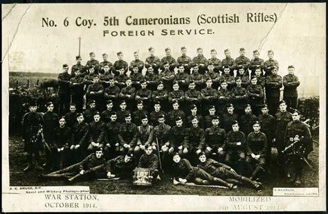 Scottish Rifles Ww1 Records
