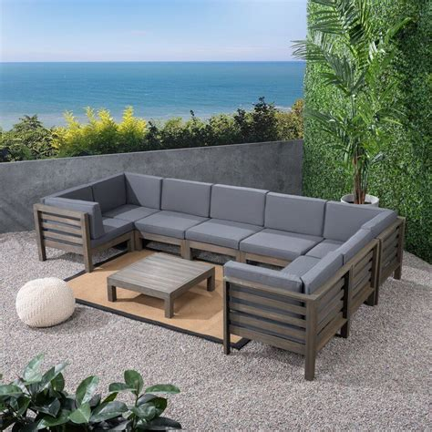 Seaham Teak Patio Sectional with Cushions