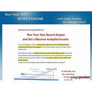 Search engine script adsense powered website scam