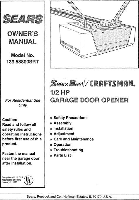 Sears Craftsman Garage Door Opener Manual Make Your Own Beautiful  HD Wallpapers, Images Over 1000+ [ralydesign.ml]