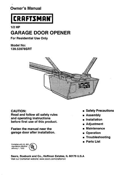 Sears Garage Door Opener Manual Make Your Own Beautiful  HD Wallpapers, Images Over 1000+ [ralydesign.ml]