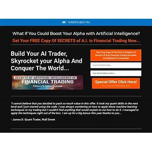 Best reviews of secrets of artificial intelligence in financial trading