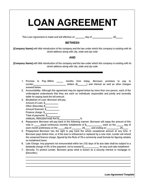 Secured Loan Agreement Template Free Uk Resume For Leasing