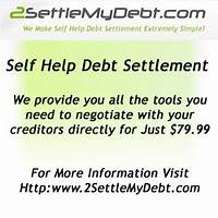 Self help debt settlement offer