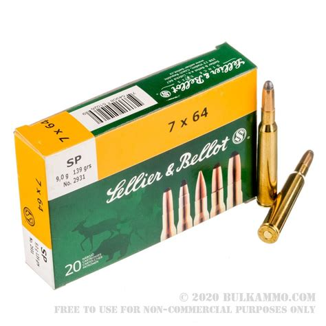 Sellier Bellot 7x64mm Brenneke 139gr Sp Ammo 7x64mm Brenneke 139gr Soft Point 20box