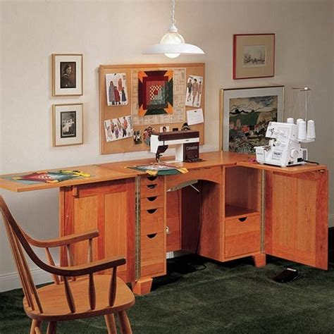 sewing machine serger cabinet plans