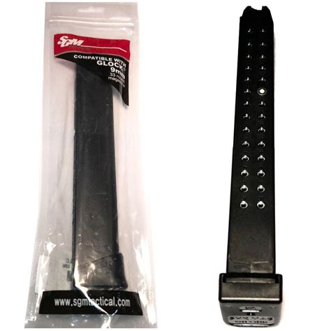 Sgm Tactical 9mm 10 33 Round Glock Compatible Magazine