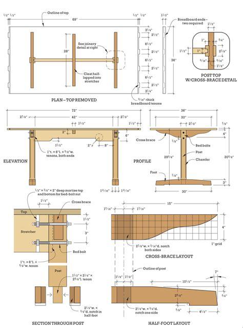 Shaker trestle table plans Image